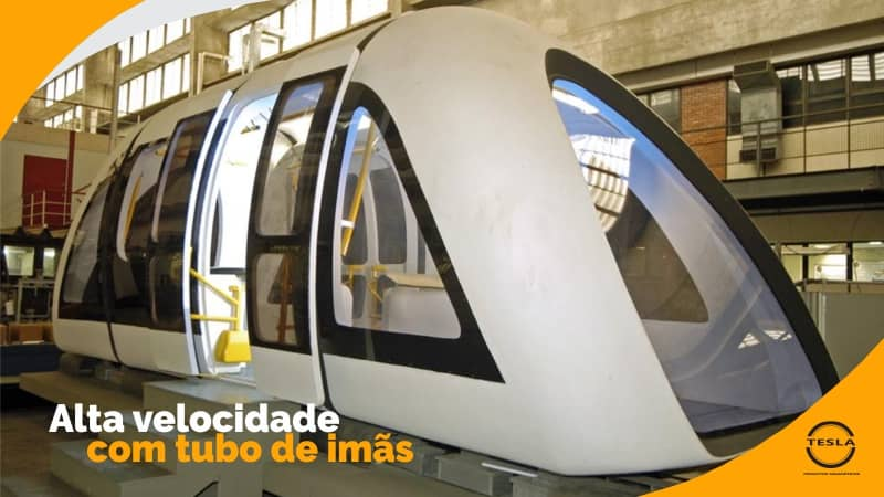 Trem flutuante de alta velocidade com imã de neodimio